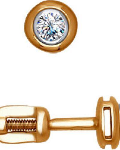 Серьги из золота золотой Sokolov