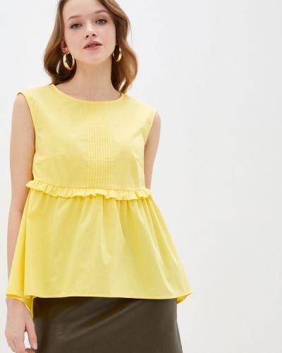 Желтая блузка с оборками Blauz