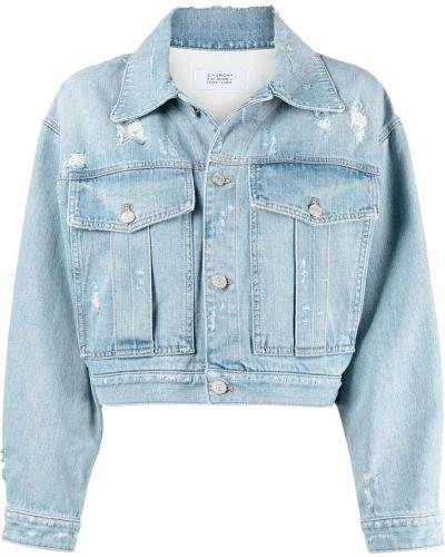 Klasyczna niebieska kurtka jeansowa zapinane na guziki Givenchy
