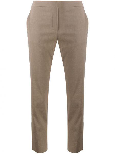 Укороченные брюки с карманами из вискозы Theory