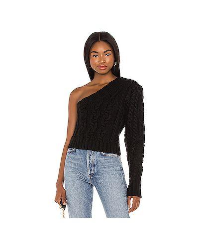 Черный вязаный свитер с воротником For Love & Lemons