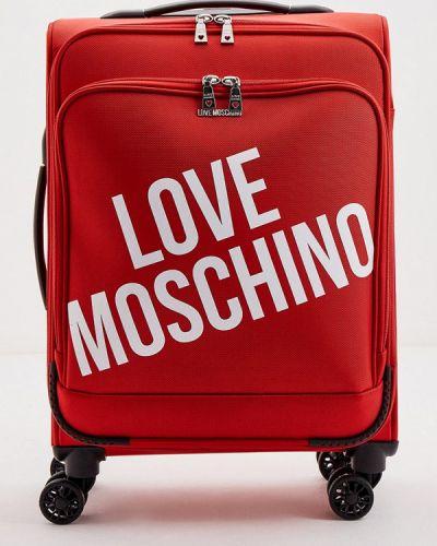 Красный чемодан Love Moschino