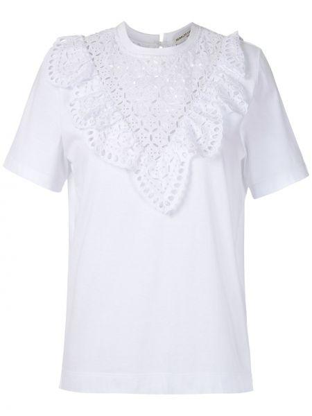Белая блузка с вышивкой без рукавов Reinaldo Lourenço