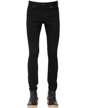 Czarne jeansy skorzane z paskiem Takahiromiyashitathesoloist