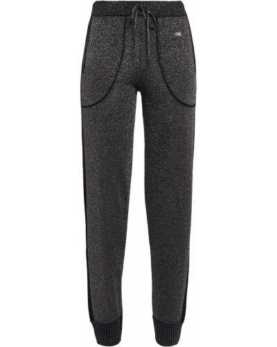Вязаные черные брюки в полоску Bella Freud