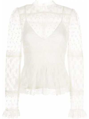Блузка с вырезом - белая Alice Mccall