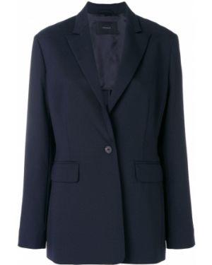 Темно-синий пиджак на пуговицах Frenken