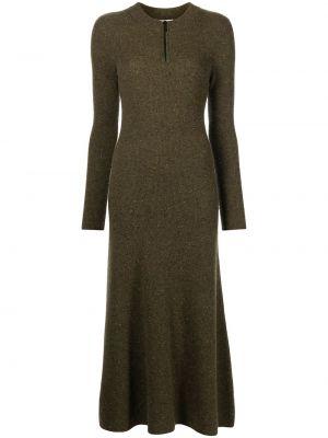 Платье макси с длинными рукавами - зеленое Jason Wu