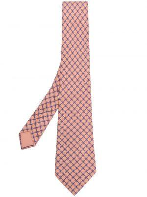 Розовый галстук Hermès Pre-owned