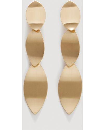 Золотые серьги из золота Mango