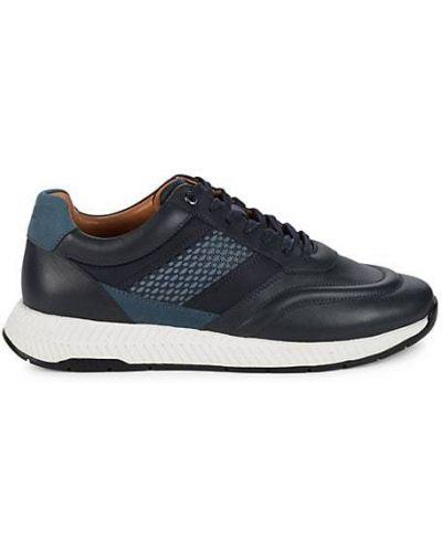 Кожаные кроссовки на шнурках круглые Boss Hugo Boss
