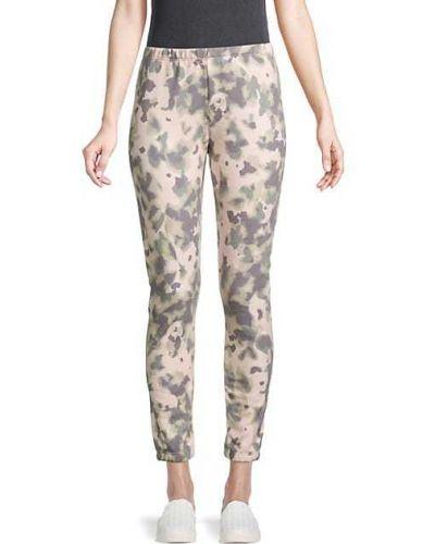 Хлопковые бежевые брюки с манжетами Wildfox