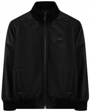Куртка черная кожаная Dolce & Gabbana