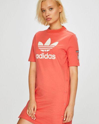 Платье мини прямое красный Adidas Originals
