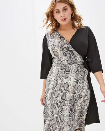Разноцветное платье - черное Jp