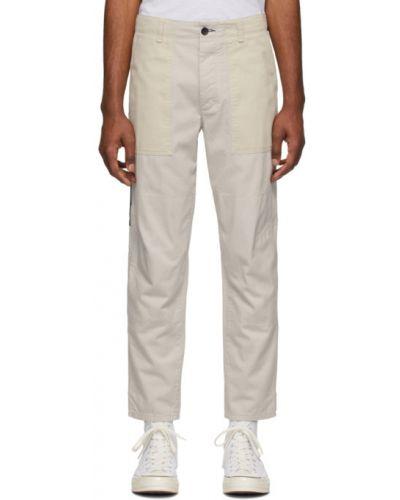Spodnie o prostym kroju z kieszeniami biały Rag & Bone