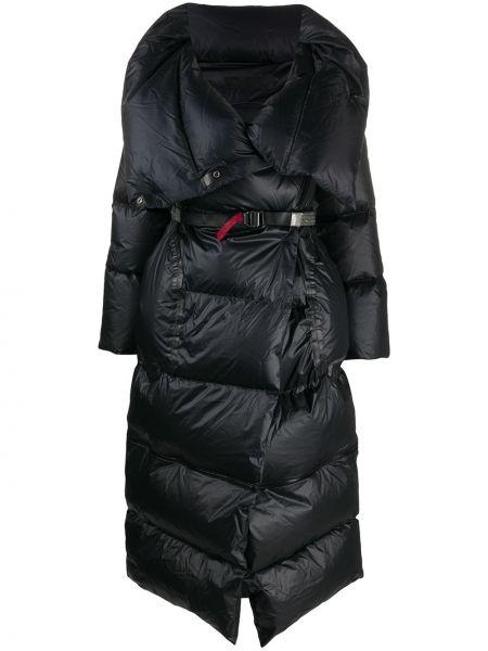 С рукавами черное пуховое длинное пальто Isaac Sellam Experience