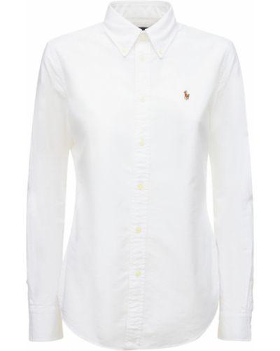 Хлопковая рубашка - белая Polo Ralph Lauren