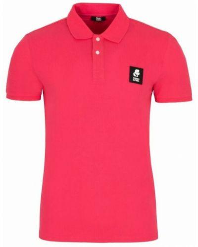 T-shirt - różowa Karl Lagerfeld