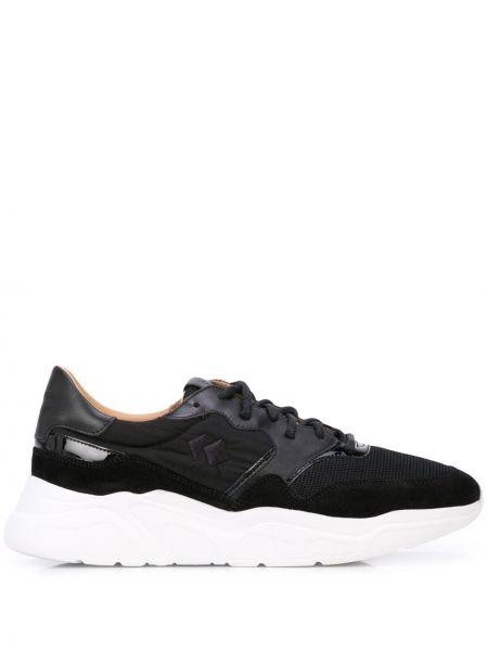Нейлоновые черные кроссовки на платформе на шнуровке на каблуке Koio