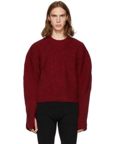Красный шерстяной длинный свитер с воротником Judy Turner