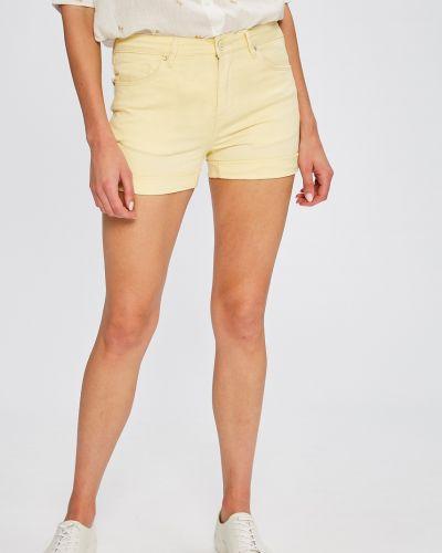 Желтые джинсовые шорты Answear