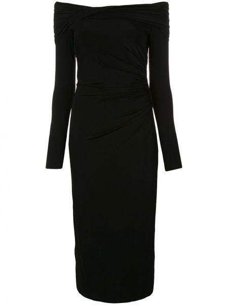 Облегающее черное платье миди на одно плечо из вискозы Jason Wu Collection