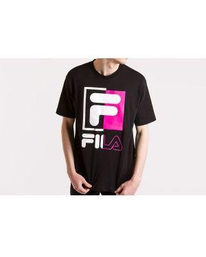 Różowy t-shirt bawełniany oversize Fila