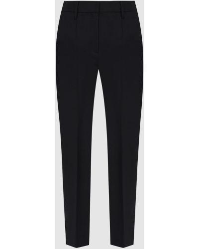 Шерстяные брюки - черные Prada