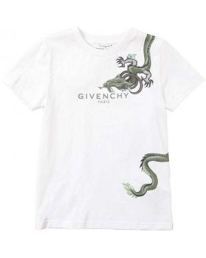 Белая трикотажная футболка с принтом Givenchy