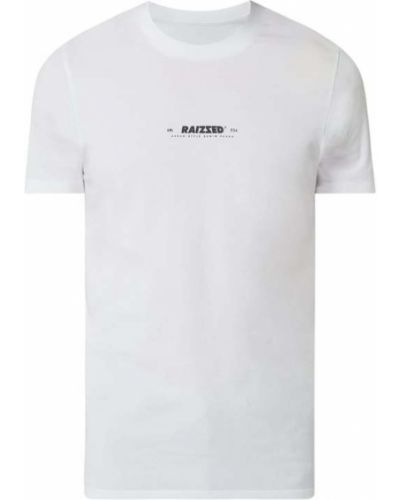 Biały t-shirt bawełniany Raizzed