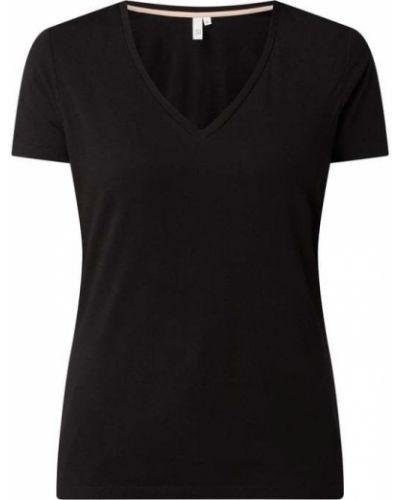 T-shirt bawełniana - czarna Q/s Designed By