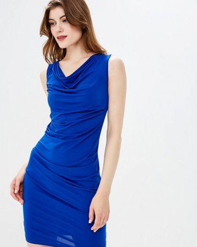Синее платье осеннее Yumi