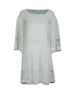Белое повседневное платье Blumarine