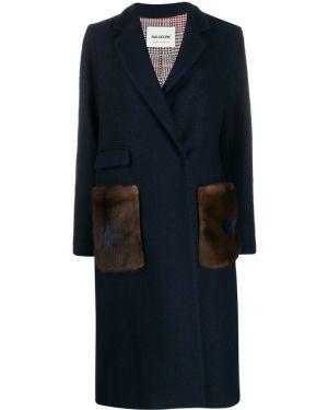 Длинное пальто с запахом с принтом Ava Adore