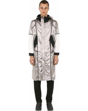 Płaszcz z kapturem z nylonu z siateczką Raglan United
