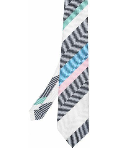 Krawat z jedwabiu w szpic Comme Des Garcons Homme Deux
