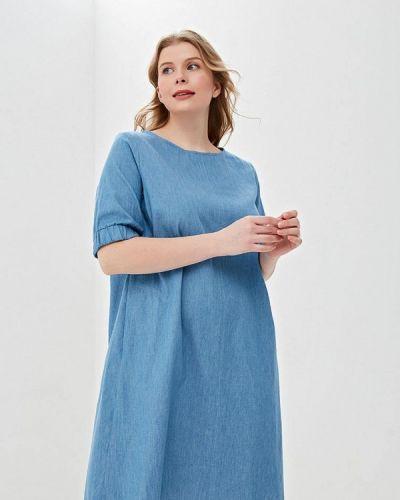 Повседневное платье весеннее синее Svesta