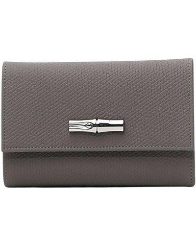 Szary portfel Longchamp