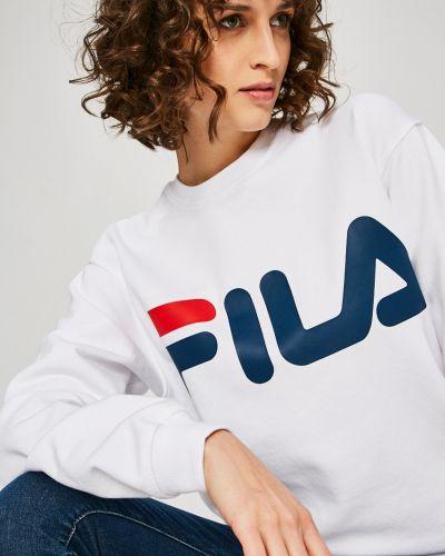 Кофта белая с капюшоном Fila