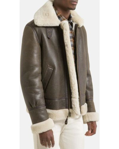 Кожаная куртка с воротником Laredoute