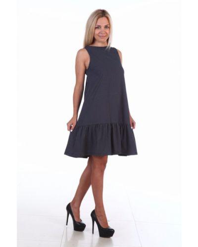 Повседневное платье в горошек синее Lacywear