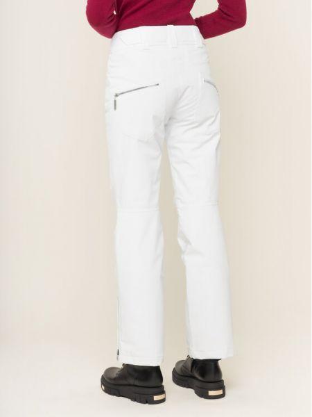 Białe spodnie Descente