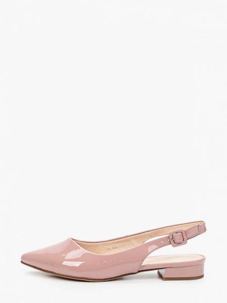 Кожаные розовые кожаные туфли с открытой пяткой Lolli L Polli