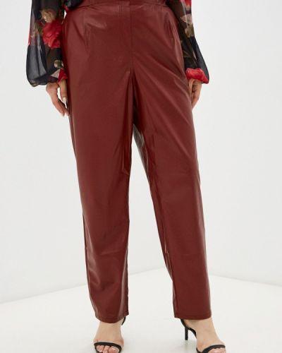 Бордовые демисезонные брюки Prewoman