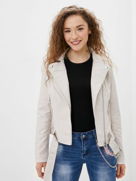 Кожаная куртка - белая Adrixx