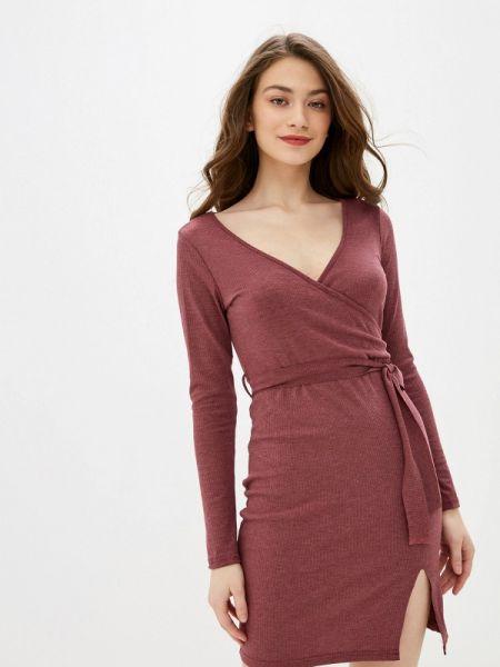 Платье бордовый прямое Marissimo