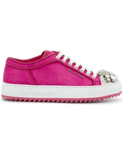 Кроссовки на шнуровке замшевые Philipp Plein