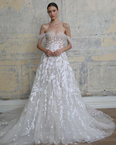 Платье из фатина с вышивкой Georges Hobeika