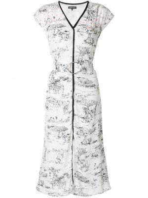 Приталенное платье миди - белое Markus Lupfer